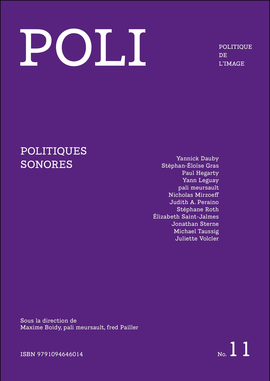 """couverture POLI 11 """"politiques sonores"""""""